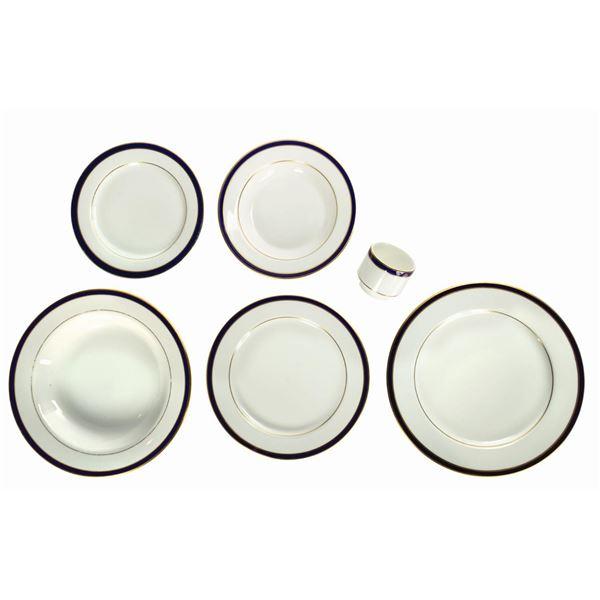 Set of (6) Club 33 Dinnerware Pieces.