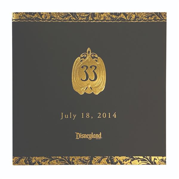 Club 33 Reopening Cast Member Booklet.