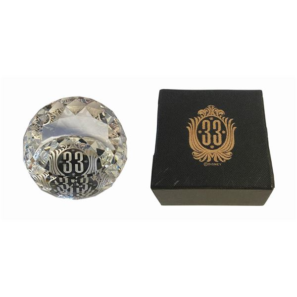 Club 33 Glass Paperweight.
