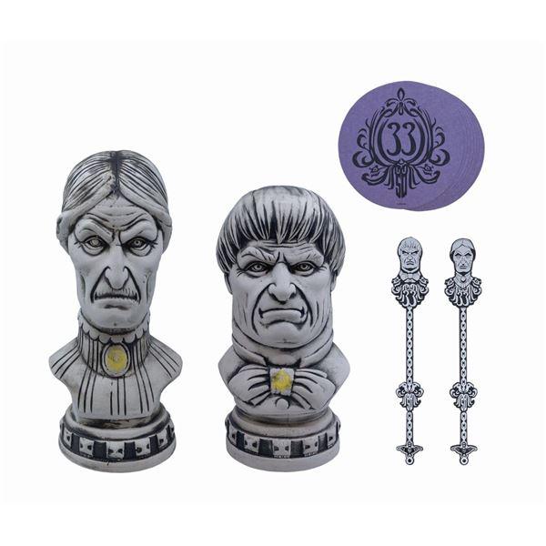 Pair of Club 33 Haunted Mansion Anniversary Tiki Mugs.