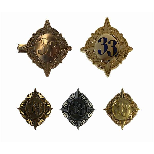Set of (5) Walt Disney World Club 33 Pins.