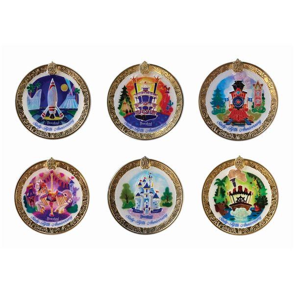Set of (6) Disneyland 65th Anniversary Club 33 Pins.