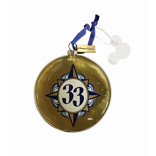 Club 33 Captain's Quarters Christmas Ornament.