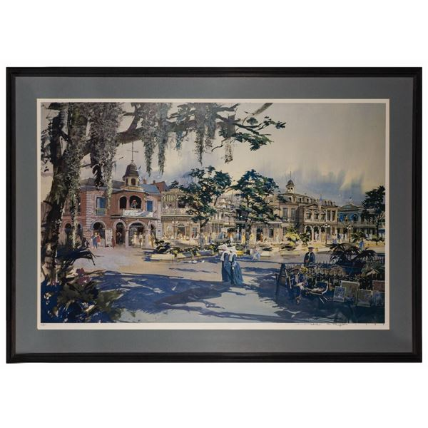 Herb Ryman Signed New Orleans Square Print.