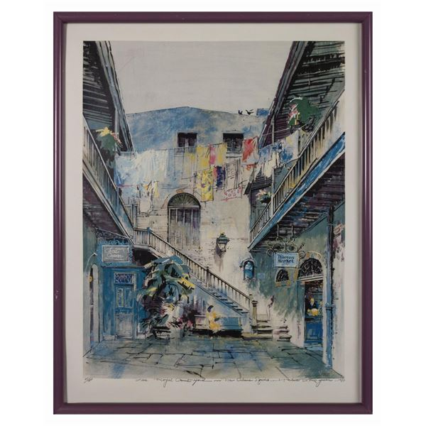 Herb Ryman Signed Royal Courtyard Print.