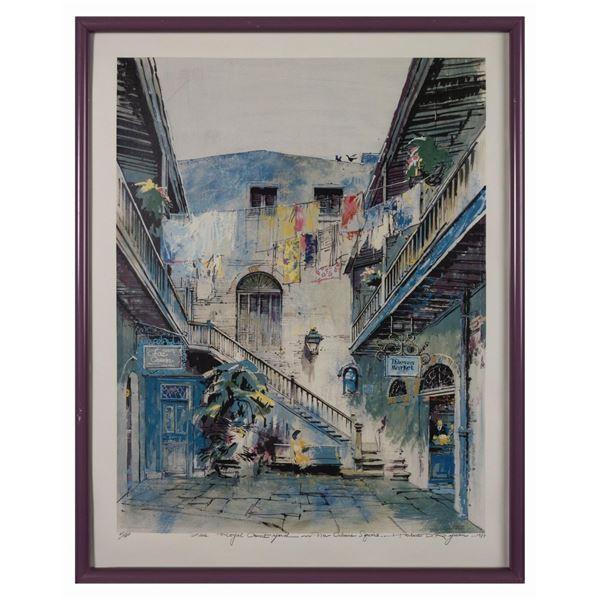 Herb Ryman Signed Royal Courtyard Print.