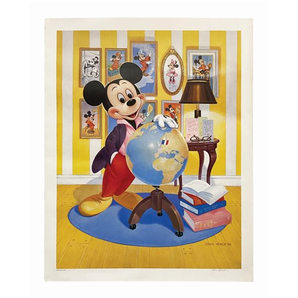 John Hench Signed Mickey's 60th Anniversary Print.