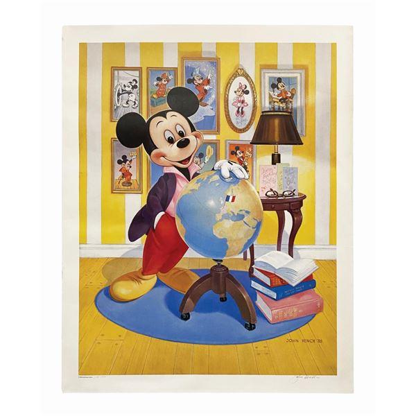 John Hench Signed Mickey's 60th Anniversary Print.