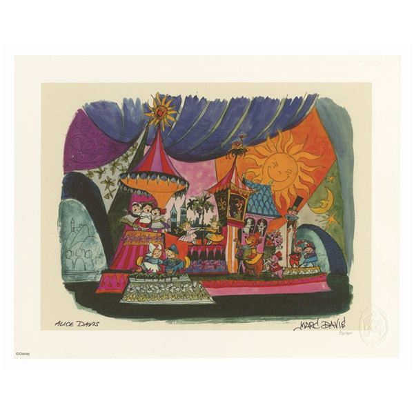 Signed Marc & Alice Davis Small World Concept Print.