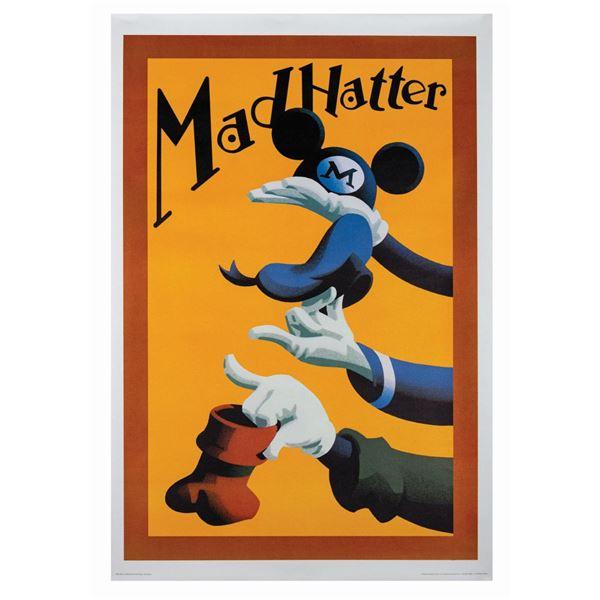 Mad Hatter Souvenir Shop Linen Poster.