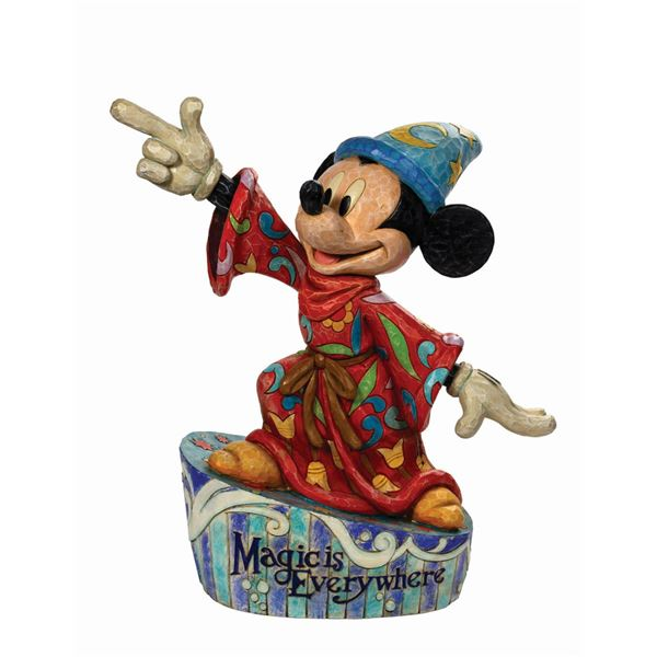 """Jim Shore """"Magic is Everywhere"""" Mickey Mouse  Big Fig."""