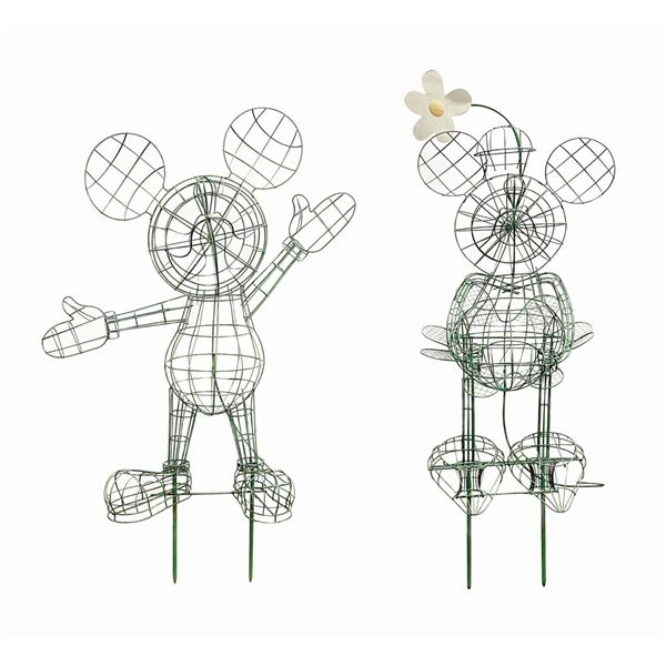 Mickey & Minnie Topiary Armatures.
