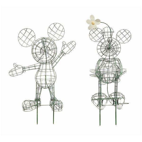 Mickey & Minnie Topiary Armatures.