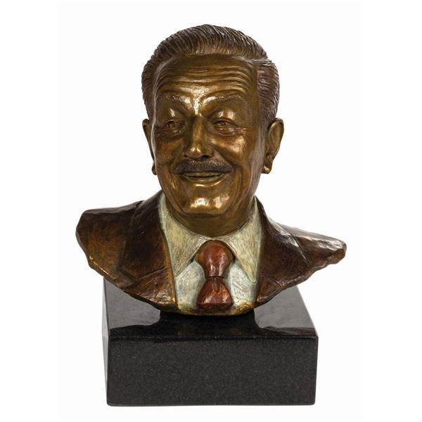 Walt Disney Bronze Bust.