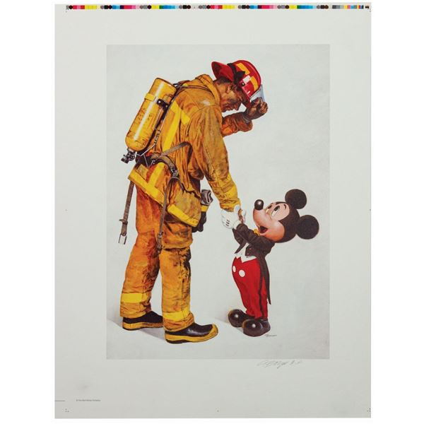 """Boyer """"Tribute to Firefighters"""" Signed Artist's Proof."""
