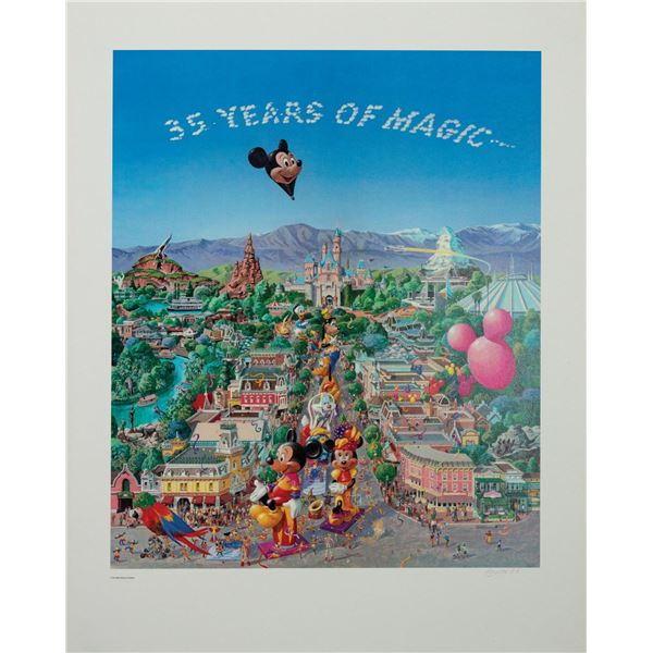 "Boyer ""35 Years of Magic"" Signed Artist's Proof."