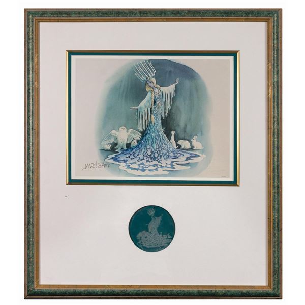 Marc Davis Signed Icicle Princess Print & Ornament.