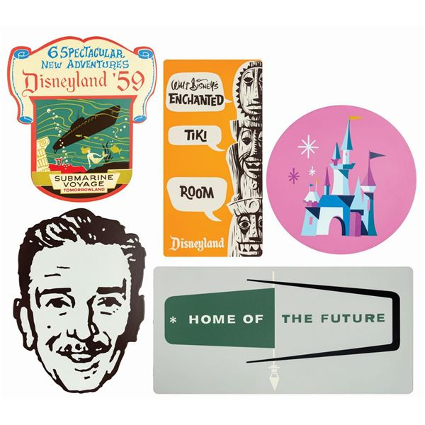 Set of (5) Disneyland Shield Signs.