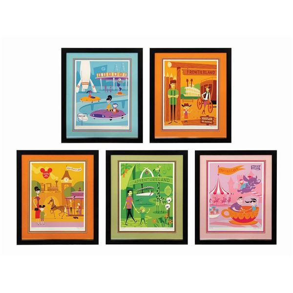 Set of (5) Shag 50th Anniversary Lands Prints.