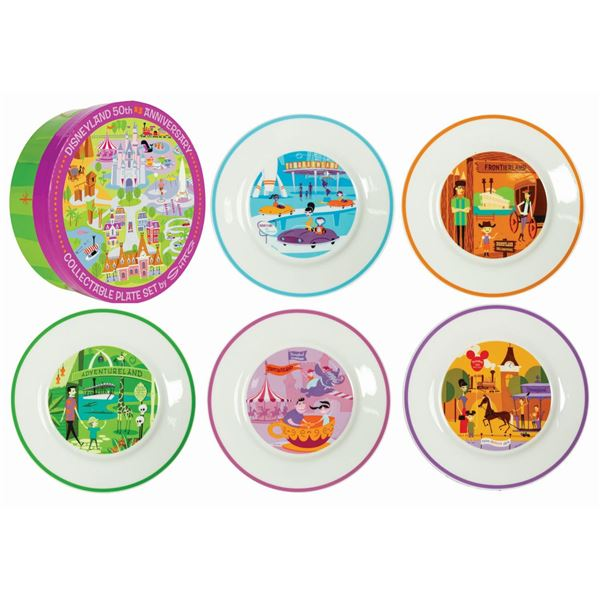 Shag Disney 50th Anniversary Plate Set.