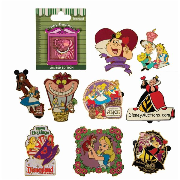 Collection of (10) Alice in Wonderland Pins.