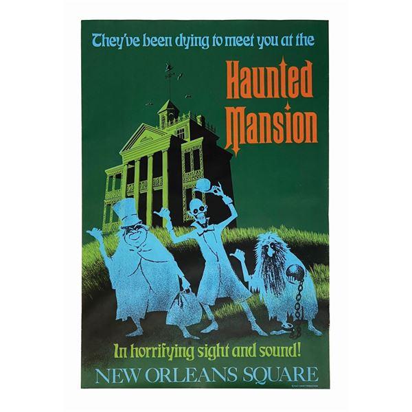 Original Haunted Mansion Attraction Poster.
