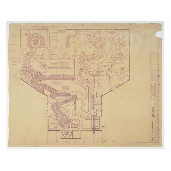 Haunted Mansion Imagineering Map Blueline Print.