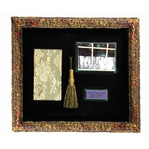 Haunted Mansion Framed Curtain Lace and Blinds Tassel.