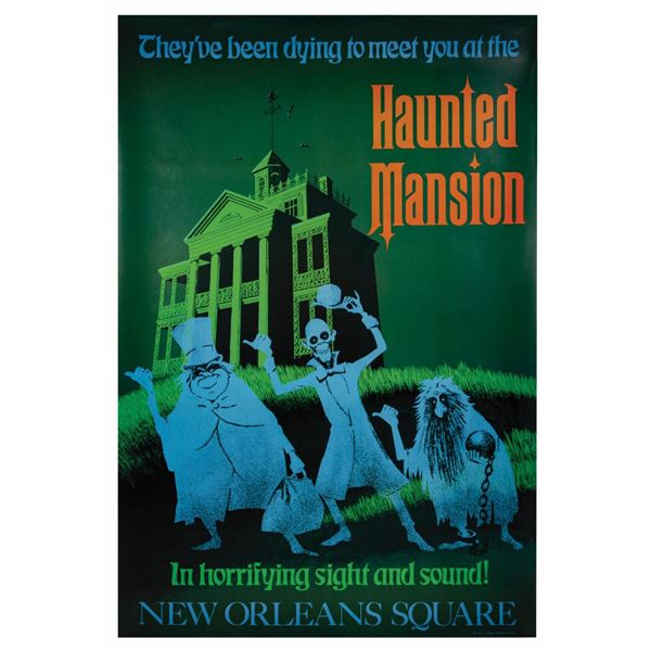 Haunted Mansion Disney Gallery Attraction Poster.