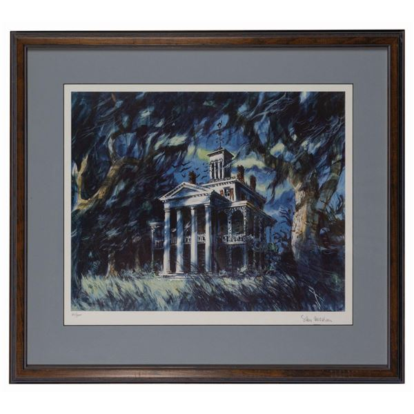 Sam McKim Signed Haunted Mansion Print.