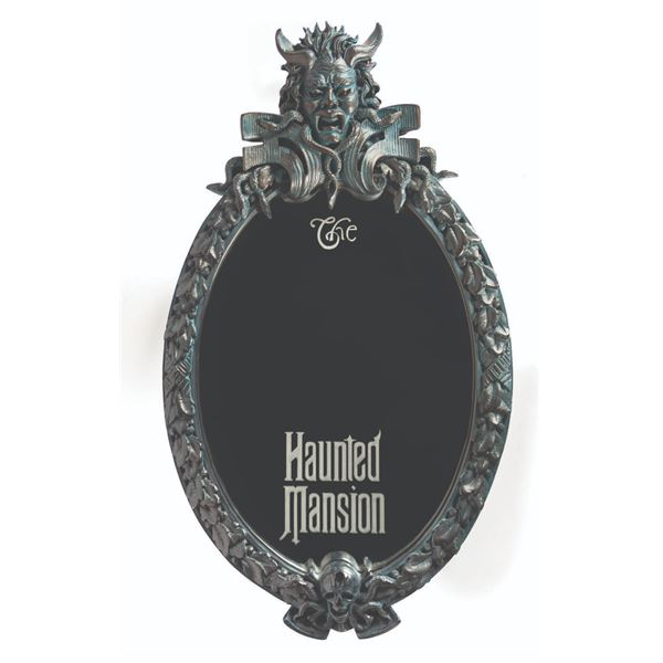Haunted Mansion Electronic Gate Plaque Mirror.