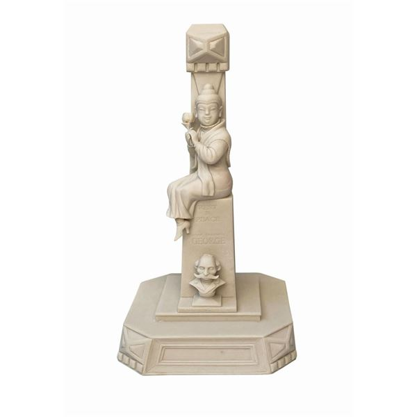 Haunted Mansion Stretch Painting Buddha Lamp Maquette.