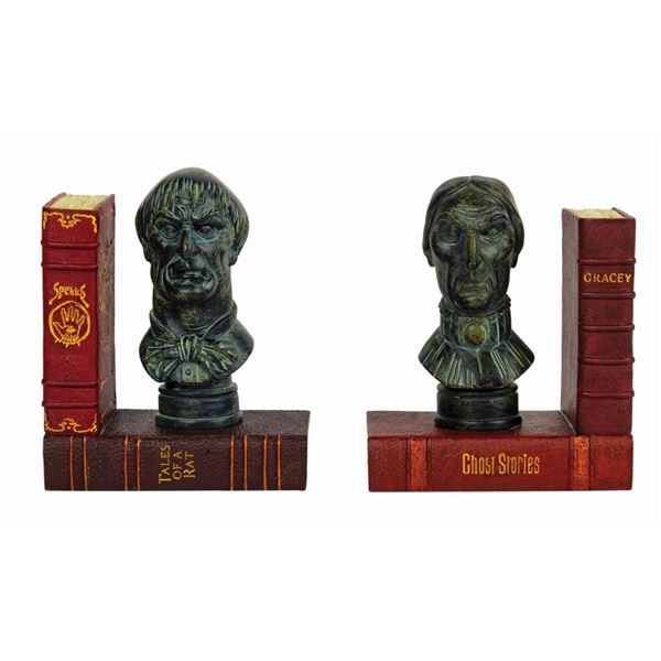 Pair of Haunted Mansion Staring Bust Bookends.
