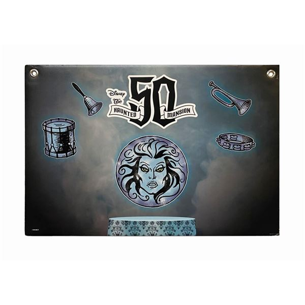 Haunted Mansion Madame Leota 50th Anniversary Sign.