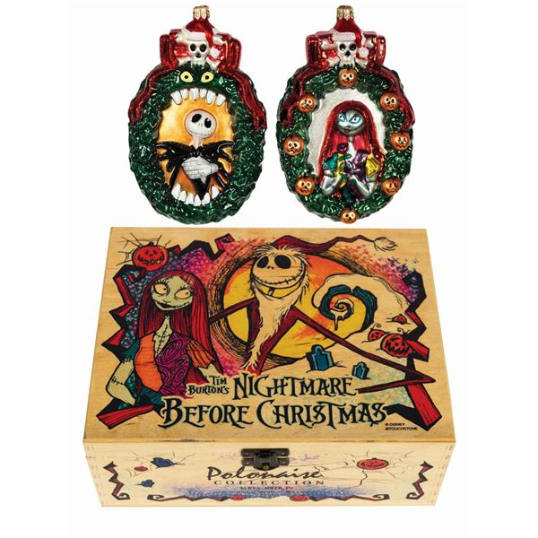 Pair of Nightmare Before Christmas Ornaments.