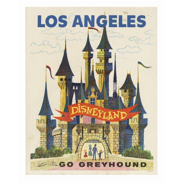 Disneyland Greyhound Bus Travel Poster.