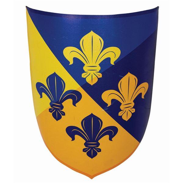 Fantasyland Fleur-de-Lis Shield Sign.
