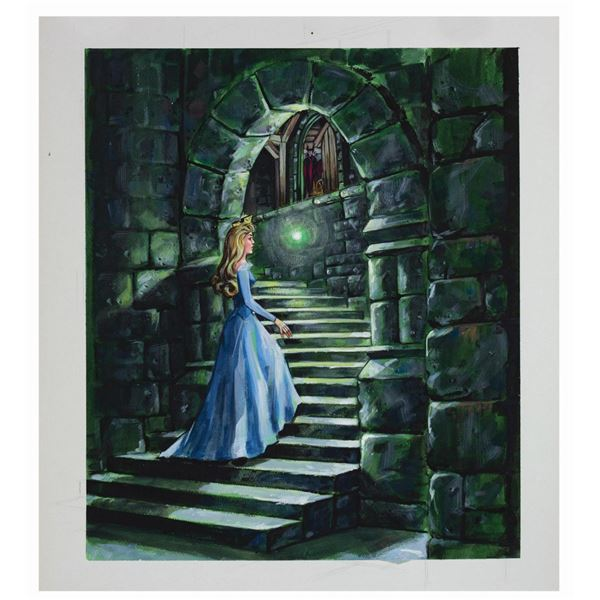 Sleeping Beauty Castle Walkthrough Concept Painting.