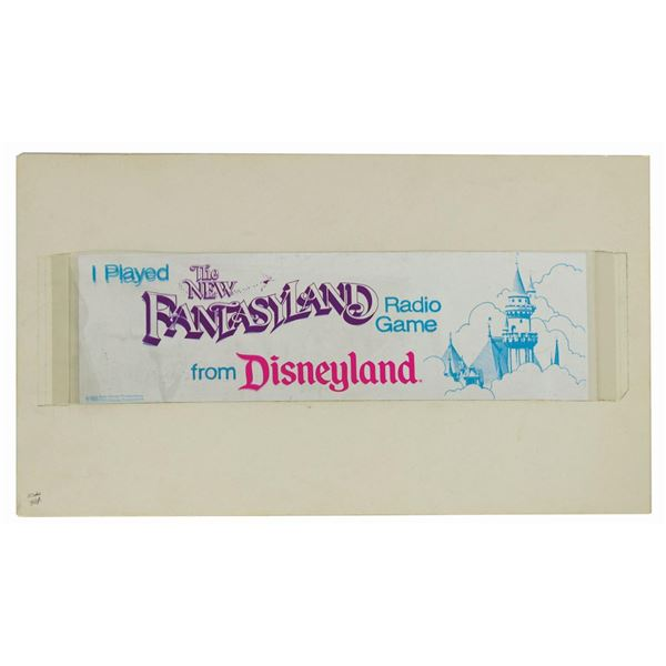 Disneyland The New Fantasyland Radio Game Artwork.