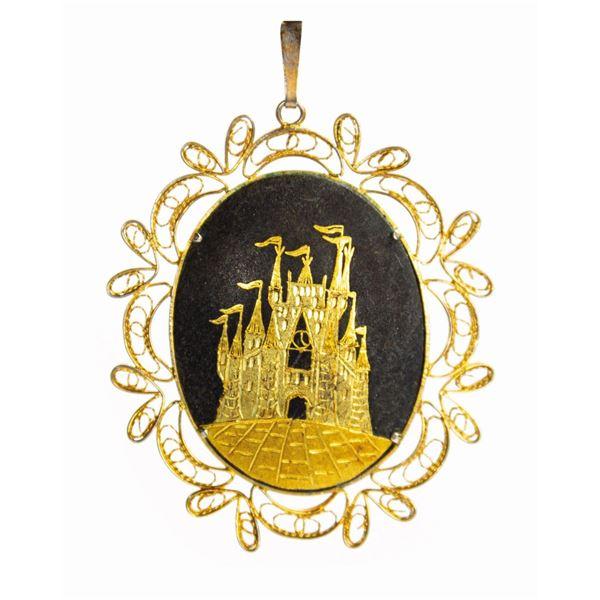 Disneyland Sleeping Beauty Castle Pendant.