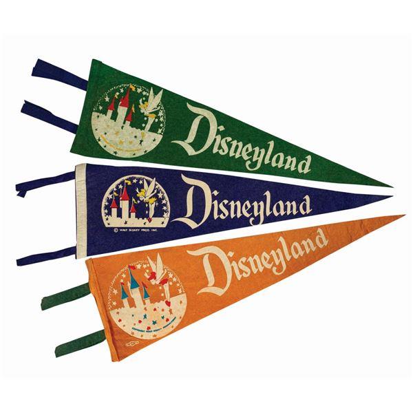Set of (3) Disneyland Tinker Bell Pennants.