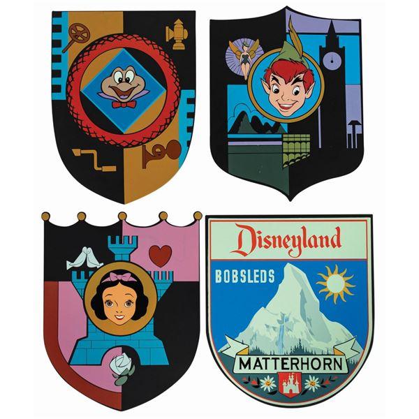 Set of (4) Fantasyland Shield Signs.