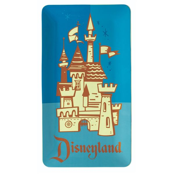 Disneyland 50th Anniversary Castle Serving Plate.
