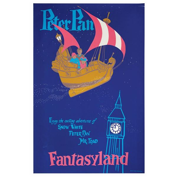 Peter Pan's Flight Attraction Poster.