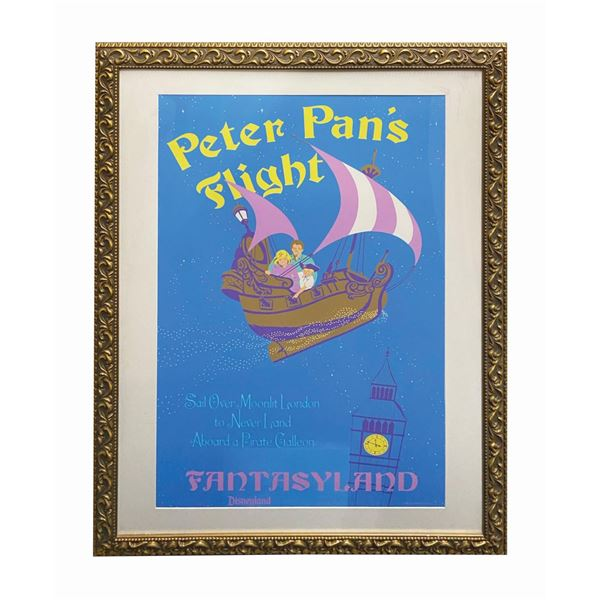 Peter Pan's Flight 50th Anniversary Poster Prop.
