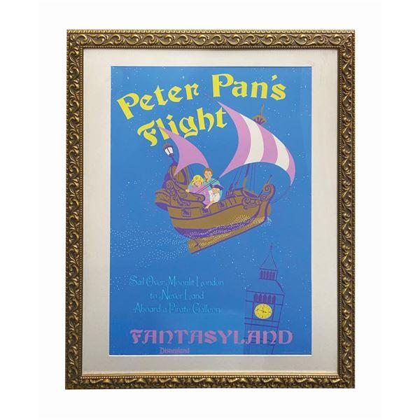 Peter Pan's Flight 50th Anniversary Poster Prop.