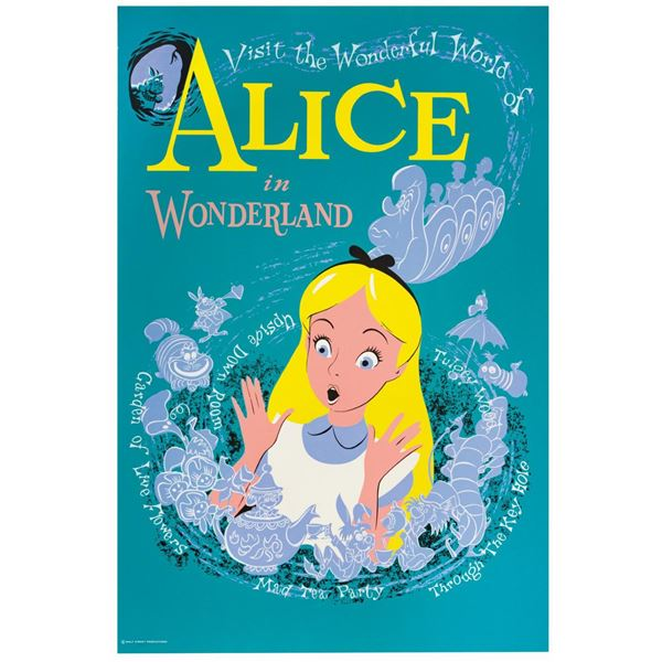 Alice in Wonderland Attraction Poster.