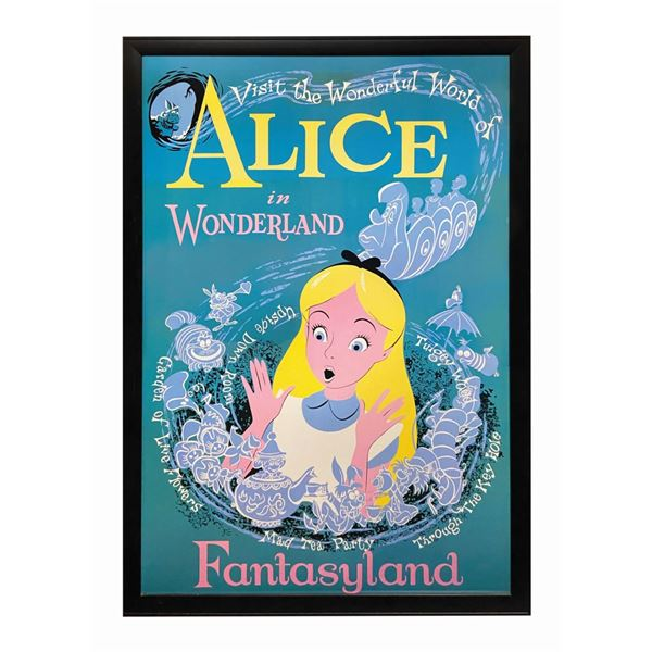 Alice in Wonderland Disney Gallery Attraction Poster.