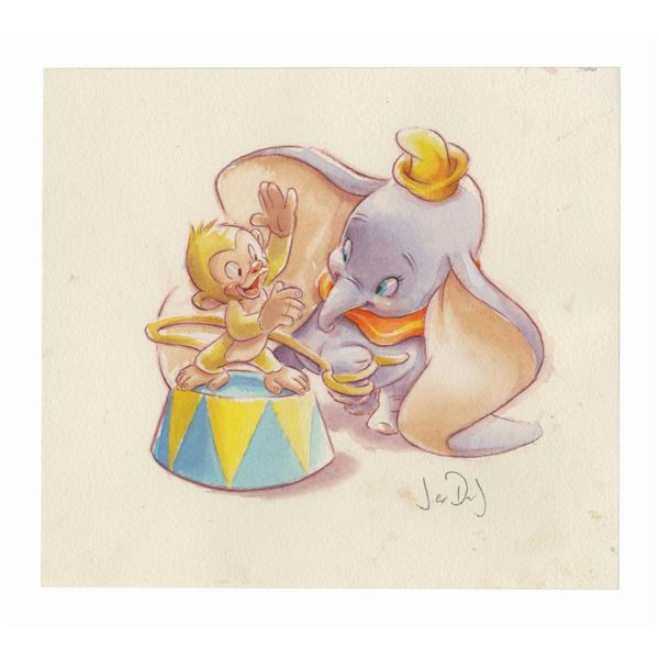 Original Jody Daily Dumbo Painting.