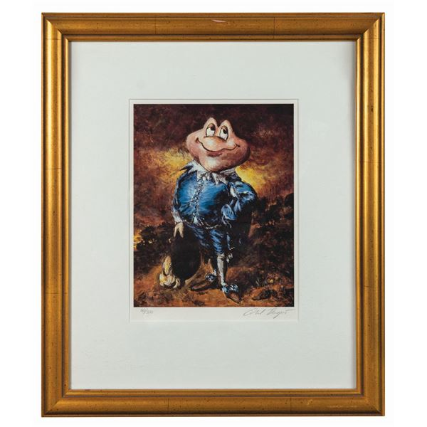 Phil Dagort Signed Mr. Toad as Blue Boy Print.